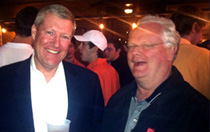 Meade Bauer '78 and Jay Lucas '76 enjoyed the Founders Day gathering at Scholz's Garten.