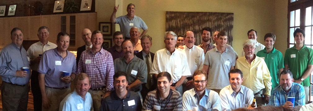 Pikes gathered in the downtown Houston home of Tucker Graves' 78 before the Astros/Orioles game on June 3.