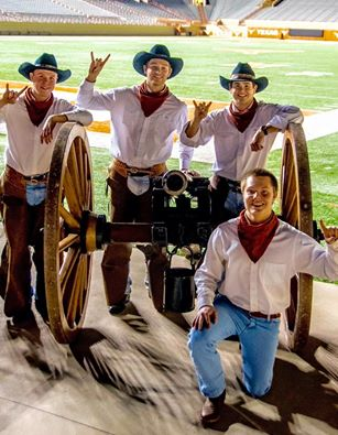 Pike's Texas Cowboys are (l-r) Erike Ewertsen, Nick Sorsby and Tyler Weido.  New Man Lucas Anderson is kneeling.  (Not pictured Chris Roman.)