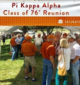 Pike Alums and their families enjoyed the reunion tailgate.
