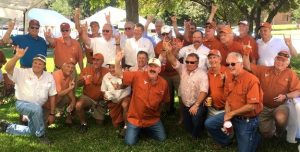 The circa 1976 Pikes at the DKR Memorial Stadium BBQ Tailgate.