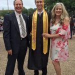 Computer Science major Sterling Hackley celebrated with his parents before moving to Los Angeles where he will join Snapchat as a software engineer.
