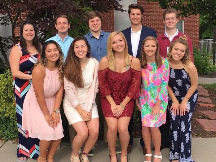 Landon Hackley (back row, second from the right) with other fraternity and sorority leaders at the NIC Conference held in Indianapolis in June of 2017.