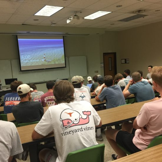During the 2019-2020 school year, Pikes held well-attended chapter meetings in the Patton Engineering building classrooms on campus.