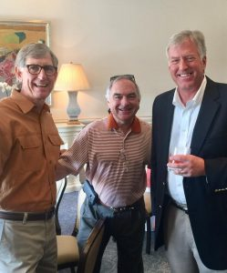Tom Peel '73, Stuart Ford '76 and Steve Tiemann '77 serve on the new Pike house campaign committee.