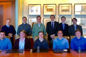 Marquez Bela '94, Jeff Morales '93 and Brian Minnehan '92 hosted a Career Advisory Session during winter break in January 2018 for Pike undergrads on careers in private equity in Dallas.
