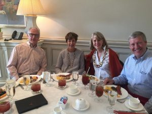 Meade Bauer '78, Jeff Meador '71 and wives enjoyed the October 2017 Alumni Brunch in Dallas.