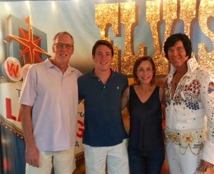 Senior Blake Steines and his parents enjoyed the Las Vegas theme of Parents Weekend.