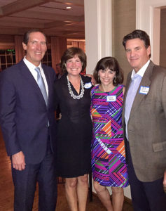 (l-r) Sally and George Dutter '83 and Kathryn and Rick Jackson '84 at the Dallas Beta Mu 150 Founders Day.