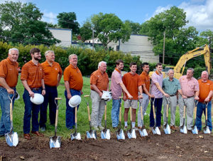 Beta Mu Building Corp. Members at June 28 Groundbreaking